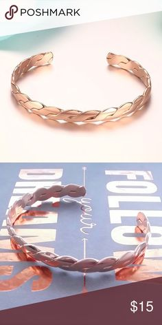Rose Gold Twist Cuff Bracelet Hammered Twist Cuff Bracelet ~ cable-wire chain  Firm Price ~ Bundle Discount is Set ~ No Offers ~ No Trades Boutique Jewelry Bracelets