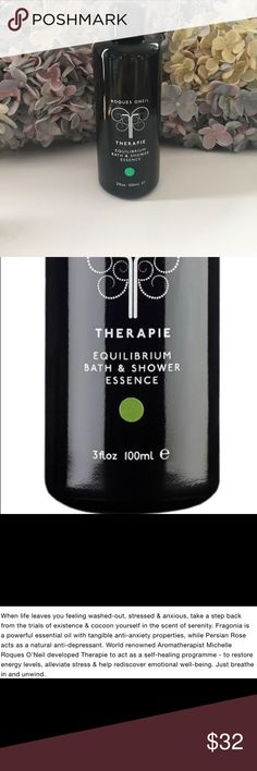 Equilibrium Bath & Shower Essence Roques Oneil Equilibrium Bath & Shower Essence. This is a very special product. Please see photos for description of this multi tasking Essence. I got this in London. Not sure if it's available in the states. Enjoy 😊 ROQUES ONEIL Other