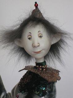 Paper clay Doll -Ankie Daanen - Artist