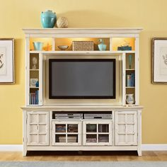 New Generation White Mountable Flat Panel Entertainment Center - Add cheerful charm to your living room with the Liberty Furniture New Generation White Mountable Flat Panel Entertainment Center , which features a vintage...