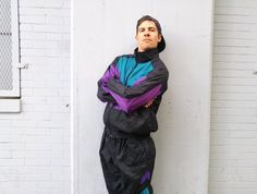 Vintage 90's Spalding Sport Track Suit Large by MODernThrowback