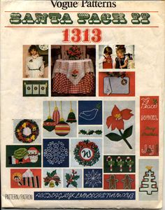 1313 vogue c.1975 - santa pack ii - #christmas #embroidery transfers w 2 #alphabe,  View more on the LINK: 	http://www.zeppy.io/product/gb/2/371668721529/