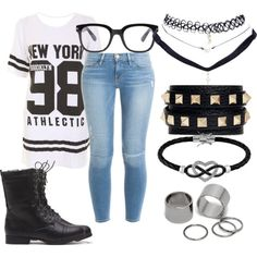 New York style is such a insipiration! Featuring fashion style Frame Denim Valentino Jewel Exclusive Pieces Wet Seal Forever 21