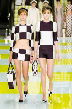 DESPITE THEY ARE SO MOD 60S, I LOVE THESE GIRLS--THIS IS SO MUCH BETTER THAN HIS NY VERSION! CUTE SHOES TOO1  Louis Vuitton Spring 2013