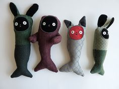 I LOVE these little softies.  So interesting and cute.  camillataylor:    upholstery people on Flickr.