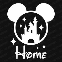 "Disney Cinderella's Castle Mickey Ears Home 4""x3.5"" Vinyl Decal"