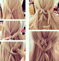 Easy Twisted Heart Hairstyle