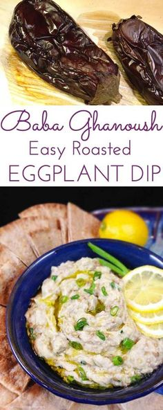 Baba Ghanoush Roasted Eggplant Dip healthy and addictive Delicious Middle Eastern dip for fresh veggies or pita bread Garlic tahini fresh lemon juice So simple – Gesundes Abendessen, Vegetarische Rezepte, Vegane Desserts, Roasted Eggplant Dip, Roast Eggplant, Lebanese Recipes, Greek Recipes, Vegetarian Recipes, Cooking Recipes, Healthy Recipes, Healthy Tips, Boite A Lunch