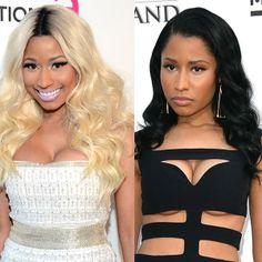 Before + after: Nicki Minaj's hair colour