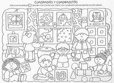 Játékos tanulás és kreativitás: Az alaklátás, alakállandóság észlelésének fejlesztése Preschool Worksheets, Preschool Activities, Coloring Books, Coloring Pages, Colouring, First Day School, Hidden Pictures, Everyday Activities, 1st Grade Math