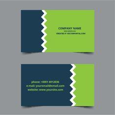 Business Card Design Templates DARK BLUE AND GREEN DESIGN