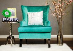 Soho Turquoise Velvet Wing ChairFashion is the art of being cutting edge and bold, while remaining practical and relevant. The Soho Wing Chair will draw attention to your space with its uniquely beautiful fabric options, designed to emphasize your fashion sense. The Soho Wing Chair is available in Turquoise Velvet or the exclusive Leather Ikat design.