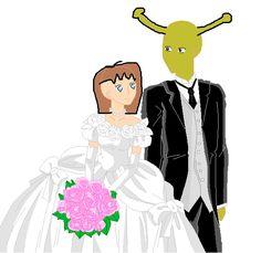 me and shreks wedding by shrekswife on DeviantArt<<<oh my god eat the hell Shrek Wedding, Trauma, Gods Not Dead, Anime Base, Cursed Images, I Am Scared, Stupid Funny Memes, Cringe, Dumb And Dumber