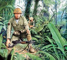 Esercito Imperiale Nipponico - Fante di Marina nella giungla di Guadalcanal, 1942