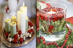 Decorative Christmas Candles beautiful memories