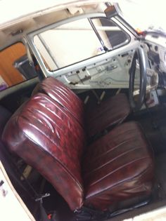 1969 Beetle interior... many thanks to Esther O'Connell for a profesh as job on my seats, flashest part of the car....could be an upholstery career waiting for you Esther......