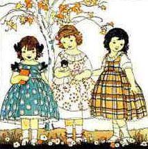 Toutes les tailles   3 little girls illustration, via Flickr.