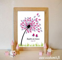 Fingerprint tree for baptism or baby shower, perfect to a personalized gift / Thumbprint art / Guestbook girl / Printable file Arts And Crafts Projects, Diy Projects To Try, Diy Bebe, Creative Artwork, Baby Gender, Diy For Kids, Christening, Mother Day Gifts, Baby Shower