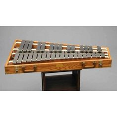 [Wrote a piece of music with this instrument in it back in 2004 for my certificate college class!] Glockenspiel.