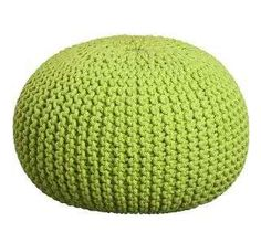 How cute is this lime coloured floor pillow? We adore it!  http://www.themodernknit.com/2014/06/29/knitted-lime-green-furniture-piece/