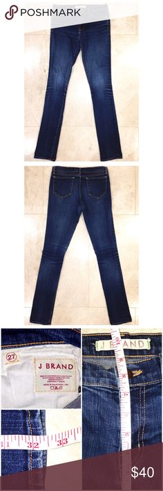 """▪️J Brand Jeans▪️ J Brand Jeans in size 27 with a 32"""" inseam come in LIKE NEW condition. Dark wash, high rise (8.5"""") and a skinny fit. Traditional J Brand thick denim. My prices fluctuate often for sales and specials, so catch your favorite items when prices are low. Thank you in advance for shopping my closet!❤️ J Brand Jeans Skinny"""
