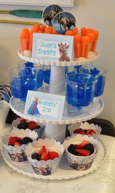 Super Ideas For Birthday Party Frozen Blue Jello Elsa Birthday Party, Olaf Birthday, Frozen Themed Birthday Party, Disney Frozen Birthday, 4th Birthday Parties, Birthday Party Decorations, 5th Birthday, Olaf Party, Birthday Ideas