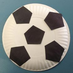 (Link leads to photo only) Really simple soccer ball craft using paper plates, even very young children could manage this football