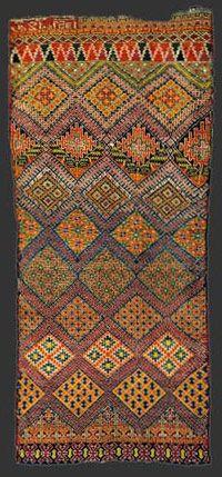 Marmoucha pile carpet, Morocco, circa 1930 - love the colors