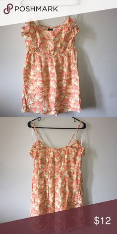 Spaghetti sundress Flowered sundress. Worn once. Dresses Midi