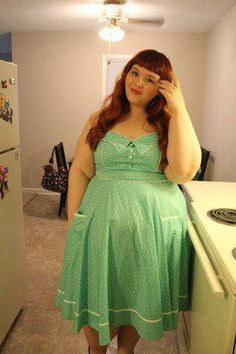 Mint and polka dots: a marvelous match. #stylegallery