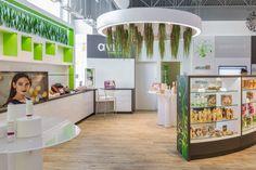 Pharmacy Design | Retail Design | Store Design | Pharmacy Shelving | Pharmacy Furniture | Avril Supermarché Santé flagship store by TUXEDO, Granby - Canada