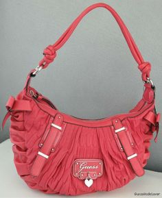 NWT Handbag GUESS Emelie Ladies Cherry New Authentic  $135.00