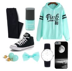 """""""blue"""" by sabichoux1427 ❤ liked on Polyvore featuring Lands' End, Converse and Torrid"""