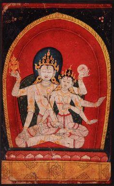Chandra, the Hindu God of the Moon with consort. Hindu Art, Museum Collection, Gods And Goddesses, Us Images, Hinduism, Himalayan, Tibet, Nepal, Artwork