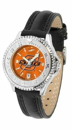 Oklahoma State Cowboys OSU NCAA Womens Leather Wrist Watch by SunTime. $79.95. Showcase the hottest design in watches today! A functional rotating bezel is color-coordinated to compliment your favorite team logo. A durable long-lasting combination nylon/leather strap together with a date calendar round out this best-selling timepiece.. Save 21%!