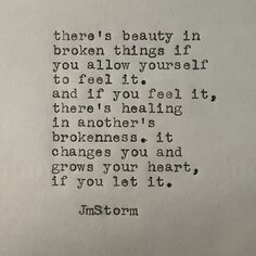 Broken things  #broken #jmstorm #jmstormquotes  #poetry #instagood #quotes #quoteoftheday #poem #poetic #poetsofinstagram #writingcommunity #poetrycommunity #writersofinstagram #instaquote #instaquotes #poetsofig #igwriters #igpoets #lovequotes #wordporn #spilledink #prose #wordplay #igpoems #typewriterpoetry #typewriter