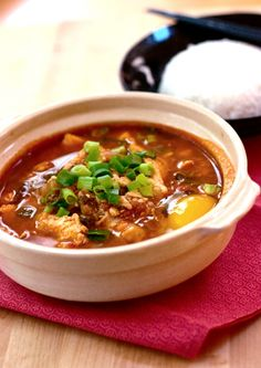 Red Shallot Kitchen: Soon Doo Boo Jigae (Korean Spicy Tofu Soup)