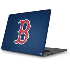 Boston Red Sox - Solid Distressed MacBook Skin. Shop now at www.skinit.com  #MLB #Boston #Redsox #baseball #macbook #laptop #macbookskin #laptopskin