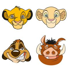 The Lion King Party Masks, Multi-color Lion Party, Lion King Party, Lion King 1, Disney Lion King, Musical Rey Leon, Lion King Pictures, Jungle Decorations, Lion King Birthday, Lion King Baby Shower