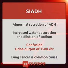 SIADH Syndrome of Inappropriate Diuretic Hormone