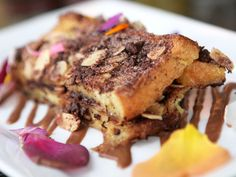Delicious bread pudding with an Mexican chocolate twist!