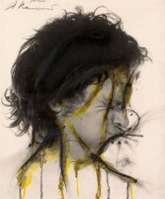 """Gelbe Tränen"" Arnulf Rainer, 1973 © Arnulf Rainer Foto: Mischa Nawrata Fosterginger.Pinterest.ComMore Pins Like This One At FOSTERGINGER @ PINTEREST No Pin Limitsでこのようなピンがいっぱいになるピンの限界"