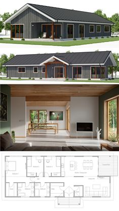 Small house plan houses in 2019 house plans, house design, Dream House Plans, Modern House Plans, Small House Plans, House Floor Plans, House Design Photos, Modern House Design, Modular Home Plans, Sims House, Prefab Homes