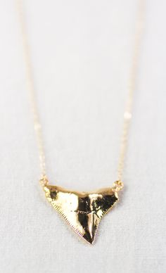 Niho Mano Sr. necklace large gold shark tooth by kealohajewelry