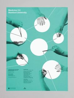 #12 Poster. Shows bauhaus movement inspiration through geometric shapes, image treatment, angles, and line-work.