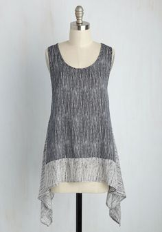 Takes One to Flow One Top. Not just any personality would pair well with this black and white tank top - youve got to be easygoing and forward-thinking, just like this styles design. #grey #modcloth