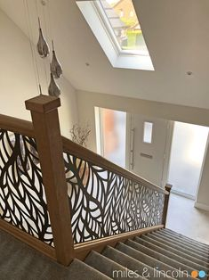 Laser cut balustrade - Frond design by Miles and Lincoln. www.milesandlincoln.com Laser Cut Screens, Laser Cut Panels, Juliet Balcony, Stairways, Laser Cutting, Luxury, Architecture, Lincoln, Interior