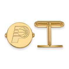 14 Karat Gold NBA LogoArt Indiana Pacers Cuff Link