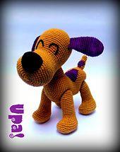 Ravelry: Loula the Dog - Loula la Perrita pattern by Upa! MiGurrumín #Pocoyo #amigurumi #crochet