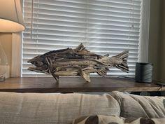 Driftwood Fish, Driftwood Sculpture, Driftwood Crafts, Wooden Crafts, Lion Sculpture, Clean Water Charity, Sea Glass Art, Custom Art, Georgian
